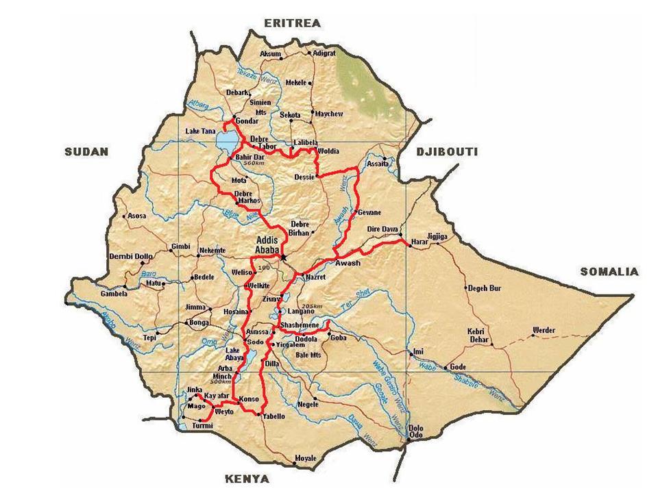 00 Kaart Ethiopie